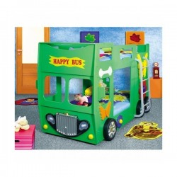 Pat etajat in forma de masina Happy Bus Plastiko