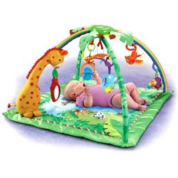 Spatiu joaca Fisher Price Rainforest Melodies & Lights Deluxe Gym