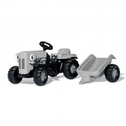 Tractor cu pedale si remorca Rolly Toys RollyKid Little Grey Fergie