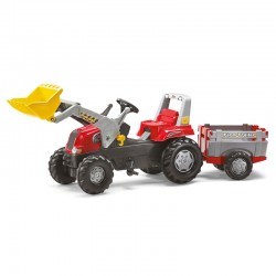 Tractor cu pedale remorca si cupa Rolly Toys RollyJunior 3-8 ani